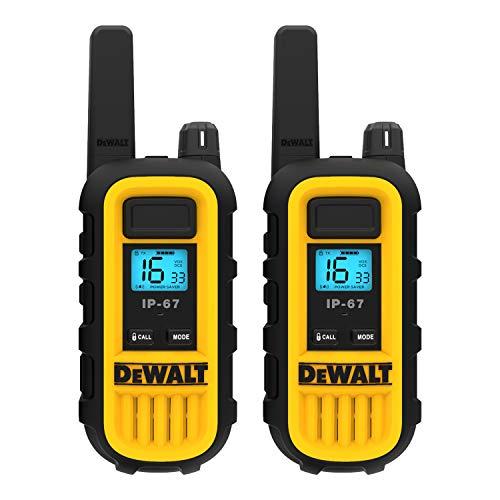 DEWALT Walkie Talkie-Funkgeräte - Professionelles Walkie-Talkie-PMR-Hochleistungsradio / Ladegerät