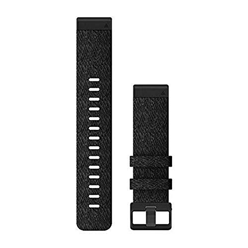 Garmin QuickFit 22 Uhrenarmbänder – meliertes schwarzes Nylon