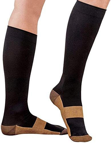 Graduated Copper Compression Socks one Pairs Anti Fatigue Knee High Socks for Men Women Pain product image
