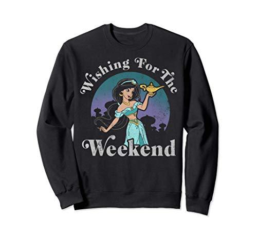 Disney Aladdin Jasmine Wishing For The Weekend Sudadera