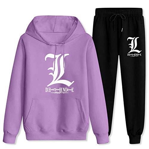 687 Adult DEA-th Note Hoodie and Pants Sets Sweatshirt Sweatpants 2 Piece Sweatsuits for Men Women