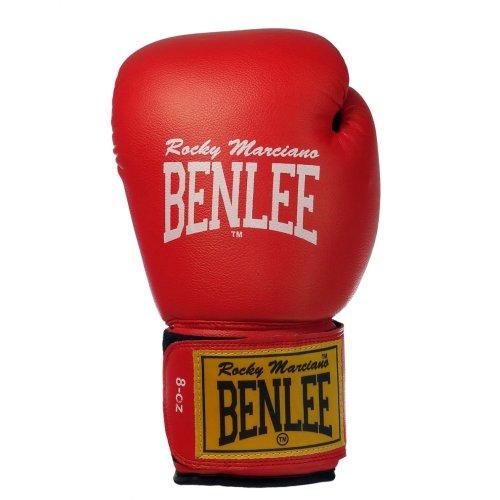 Benlee Rocky Marciano Rodney Guantoni da pugilato in PVC, Rosso/Nero, 8 oz