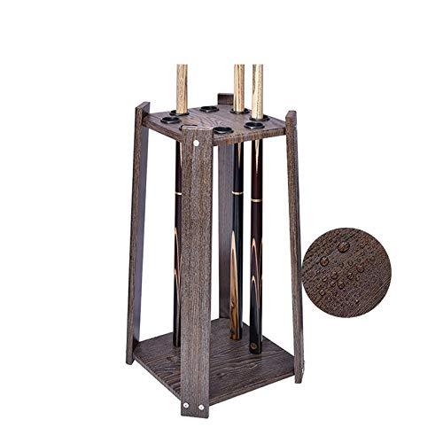 Suporte para taco de bilhar feito de madeira de lei sólida, mesa de bilhar compacta comporta 8 tacos, fácil de instalar, acessórios para soneca no chão, adequado para cafeteria/50 (Tamanho : 58 cm32 cm)
