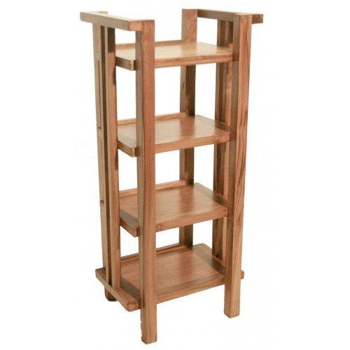 CAL FUSTER - Mueble Auxiliar estantería Baja de Madera de teka. Medidas: 72x32x25 cm.