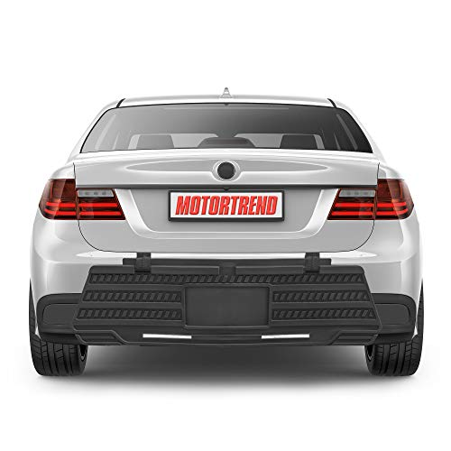 Motor Trend Universal Bumper Guard for Cars - Heavy-Duty Rear Car Bumper Protector for Parked Vehicles, High Intensity Reflector for Nighttime Visibility, Easy to Install for Cars and Small SUV's
