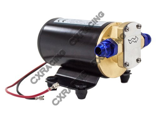 Price comparison product image CXRacing Electric Scavenge Pump for Turbo Oil Feed 3.2L GPM 12VDC AN8