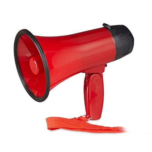 Scopri offerta per Relaxdays 10022829 Megafono per Tifosi, Altoparlante in plastica per Feste e Stadio, 10 watt, HxLxP: 21 x 13,5 x 22 cm, Rosso