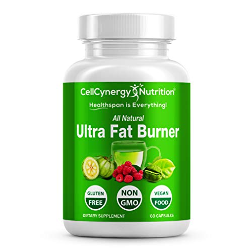 All Natural Weight Loss Fat Burners for Women & Men - Garcinia Cambogia, Green Tea – Fat Burner, Appetite Suppressant, Boost Metabolism - Green Coffee Bean - Non-GMO CellCynergy 60 Veggie Capsules