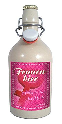 Frauen Bier - 0,75 Liter Tonflasche mit Bügelverschluss