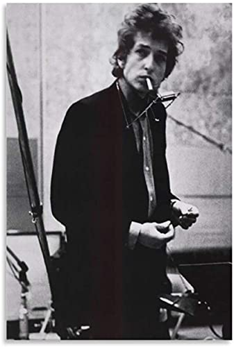 ZRRTTG Canvas Wall Art Painting Poster Bob Dylan Music Star for Room Decoration Artwork Print Posters 15.7'x23.6'(40x60cm) NO FRAME