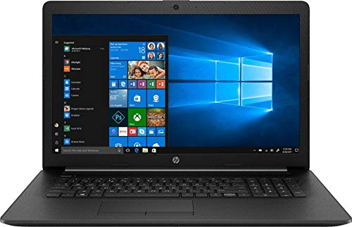 2019 HP 17.3' HD+ Flagship Home & Business Laptop, Intel Quad Core i5-8265U Processor Upto 3.9GHz, 8GB RAM, 256GB SSD, DVD-RW, WiFi, HDMI, GbE LAN, Bluetooth, Windows 10, Black