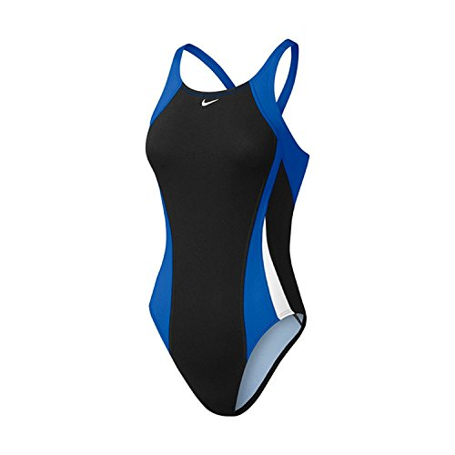 Nike Women's Poly Color Surge Fastback Tank Swimsuit 40 GameRoyal