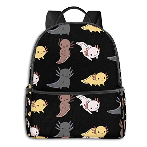 IUBBKI Anime & Axolotl Parade Classic Student School Bag School Cycling Leisure Travel Camping Outdoor Backpack