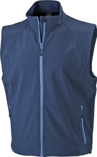 James & Nicholson Herren Jacke Softshellweste blau (navy) Large