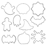 Molde de Galletas de Halloween Acero Inoxidable DIY Craft FONDANTE FONDANTE Kit DE MOLDO 10PCS