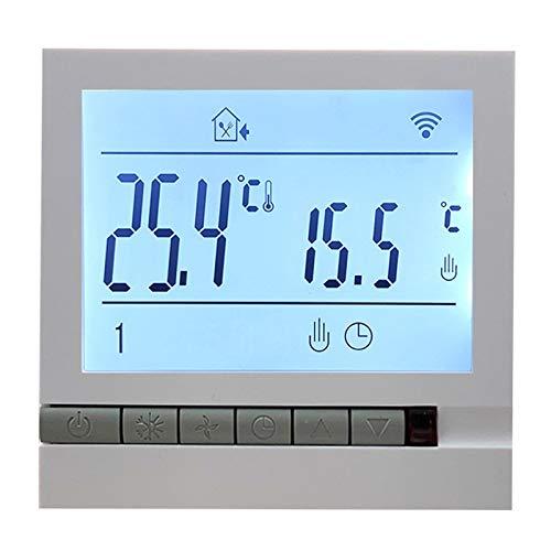 Wivarra Termostato Digital de CalefaccióN de Suelo de 220 V 16A Controlador de Temperatura de Suelo de CalefaccióN EléCtrico Programable LCD