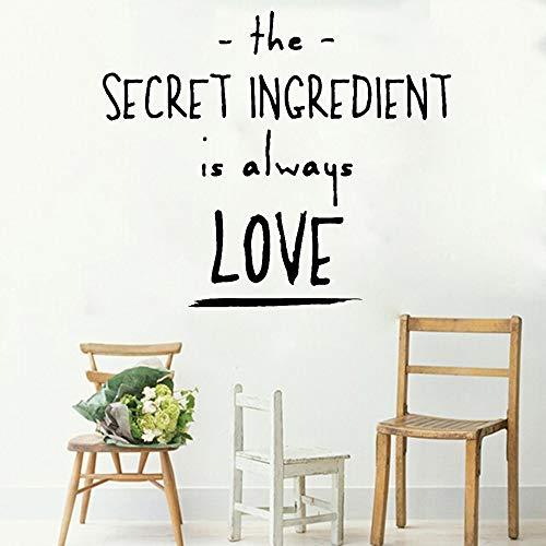 jiushivr Hot Home Decoration Wandaufkleber zitiert geheime Zutaten ist Immer Liebe Familie Wohnzimmer Sofa Hintergrund Abziehbilder 49x42cm
