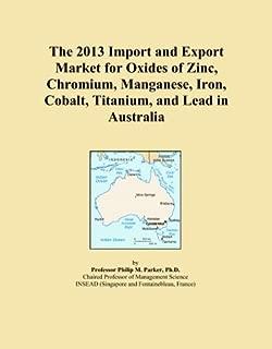 The 2013 Import and Export Market for Oxides of Zinc, Chromium, Manganese, Iron, Cobalt, Titanium, and Lead in Australia