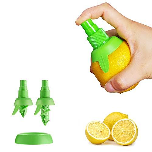 Pulverizador manual de zumo de limón, 2 unidades, zumo de naranja cítricos para sabor fresco, exprimidor de limón para ensalada, utensilios de cocina