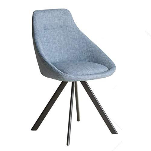 Living Equipment Hocker H Waschtisch Schminktisch Stühle 180 Grad;Drehbarer Stoff Esszimmerstuhl Nordic Study Desk Drehstuhl Stahlbeine und Baumwollstoff für Schlafzimmer Büro Schlafsaal Balkon (F