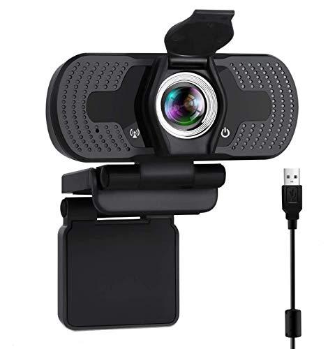 ONLYO Full HD Webcam 1080p Videokamera mit Webcam-Abdeckung,USB Webcam mit Eingebautes Mikrofon,Mini Plug and Play für Desktop,Notebook,ideal für Konferenzen,Live Übertragungen und Videoanruf