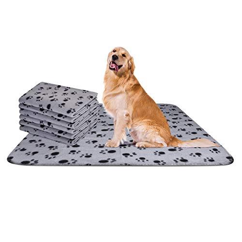 Nobleza - 6 x Hundedecke Weiche Fleecedecke Waschbare Deck für Haustier Hunde Katzen Welpen Weiche Warme Matte, Grau, 120 * 100 cm