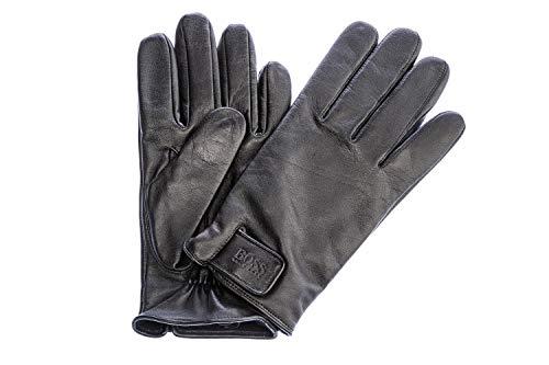Hugo Boss Herren Lederhandschuhe mit Futter, Helkop, Black, size 8