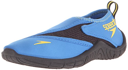 Speedo Unisex-child Water Shoe Surfwalker Pro 2.0,Blue/Black,2 Kids US