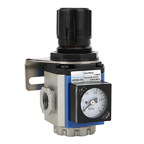 Regulador de presión de manómetro Procesador de fuente de aire de la serie G para sala de operaciones para taller(GR200-06 G1/8')