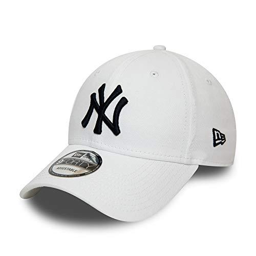 New Era New York Yankees Cap New Era MLB Kinder Kappe Verstellbar Baseball Cap Weiss - Youth