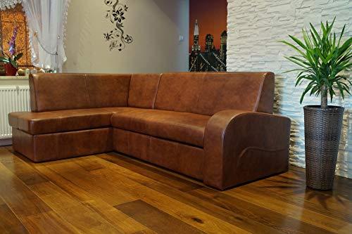 Quattro Meble Hoekbank Antalya 2 extra 164 x 245 cm (hoek links) sofa bank met bedfunctie en bedkast echt leer hoekbank leer in vele kleuren