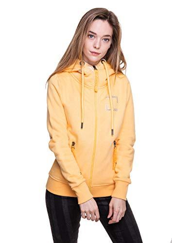 Zhrill Damen Zip Hoodie Kapuzenjacke Sweatjacke Slim Fit Sportlich Lässig Finja, Größe:S, Farbe:T510 - Yellow