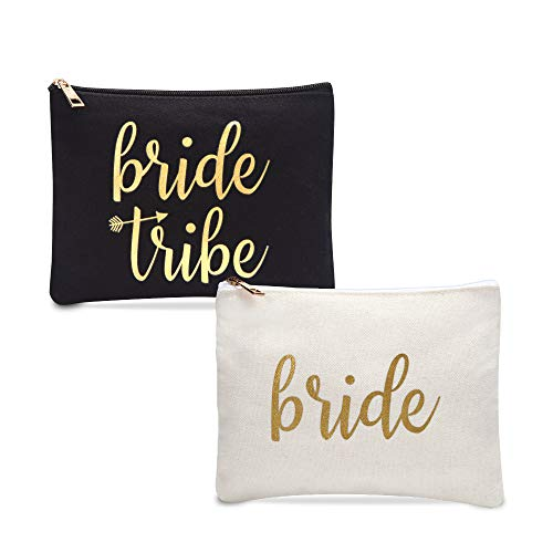 Bride Tribe Makeup Bags | Bridesmaid Gifts | Bridesmaid Makeup Bag | Makeup Bag Bridesmaid Set | Bride Tribe Bags | 7 Pack
