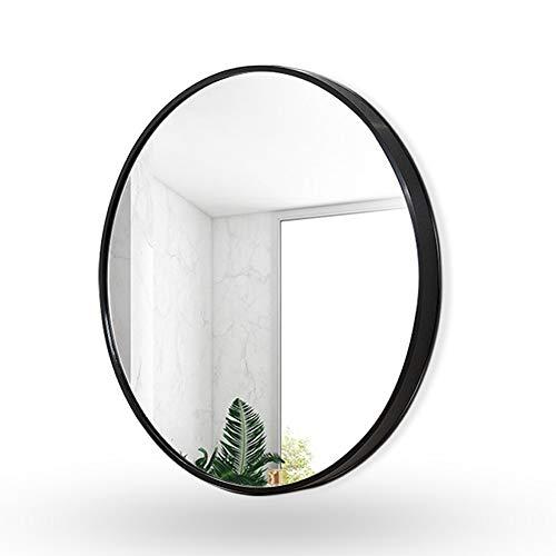 FYMDHB886 Wandmontage Decoratieve Spiegel Kunstmatige Lederen Riem Badkamer Spiegel Kleine Ronde Muur Spiegel Creatieve Decoratieve Spiegel Sling Spiegel, Size, Zwart