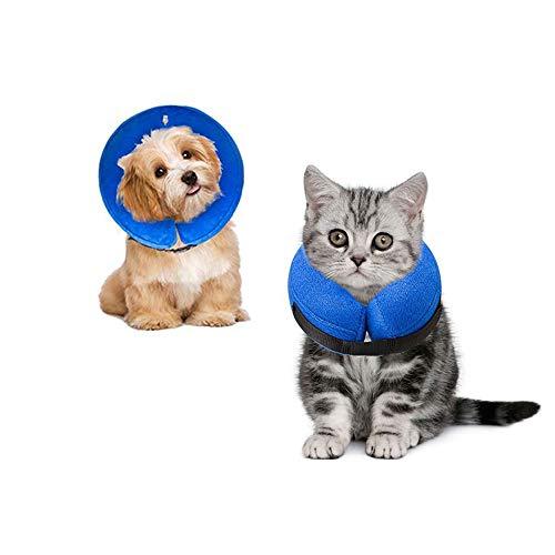 Perros Collares de Recuperación Mascotas Cono para Perro Inflable Almohada Cuello Protector Protección Después de la Cirugía Alternativa Conos Post Cirugía Donut Dog Cone Pet Recovery Collars (M)