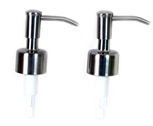 Jarmazing Products Stainless Steel Soap and Lotion Replacement Pump- Two Pack