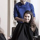Cape imperméable de qualité professionnelle, matériau léger et longue durabilité. Convient aux salons de coiffure et de beauté, durable et professionnel (Noir)