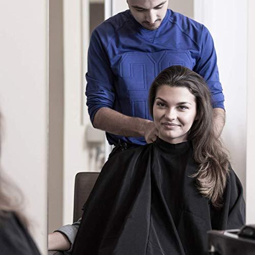 Blouse de coiffure universelle | Cape coupe cheveux hydrofuge | Cape de coiffeur professionnelle avec fermeture à crochet | Salon de coiffure