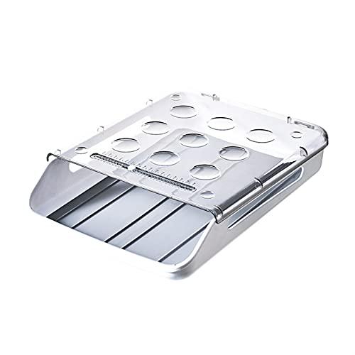Caja de Huevos para 20 Huevos,Almacenamiento de Huevos,Contenedor de Huevos, para la Nevera,Soporte de Huevos para Huevos Fresco-grey