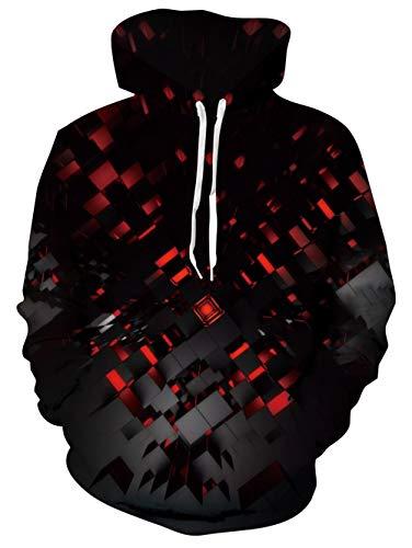 AIDEAONE Kapuzenpullover Sweatshirts 3D Druck Musiknote Grafik Streetswear Hooded Pullover Bekleidung Sport Sportbekleidung Party Strickjacken mit Taschen