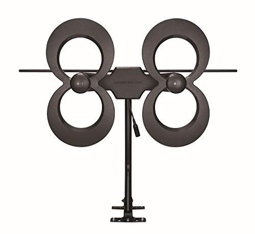 Antennas Direct ClearStream 4MAX TV Antenna, 70 Mile Range, Multi-directional, Indoor, Attic, Outdoor, Mast with Pivoting Base, All Weather Mounting Hardware, 4K Ready, Black - C4MVJ (Renewed). Buy it now for 123.49