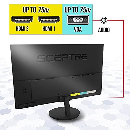 Sceptre 27-Inch FHD LED Gaming Monitor 75Hz 2X HDMI VGA Build-in Speakers, Ultra Slim Metal Black