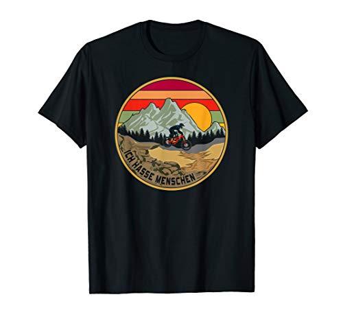 Ich Hasse Menschen Mountainbike MTB Downhill Vintage Enduro T-Shirt