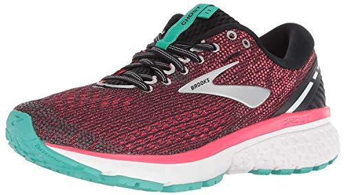 Brooks Women's Ghost 11 Running Shoes, Multicolour (Black/Pink/Aqua 017), 3 UK