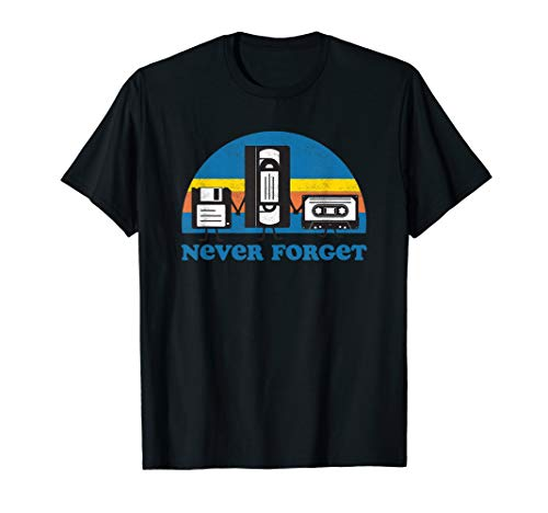 Funny Never Forget Cassettes T-shirt for Men, Women, 5 Colors