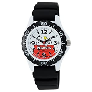 [シチズン Q&Q] 腕時計 アナログ スヌーピー 防水 ウレタンベルト AA96-0015 ホワイト × ブラック