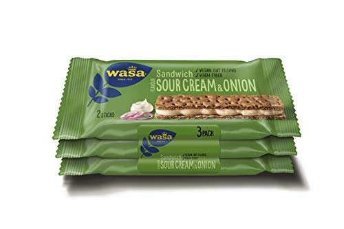 Wasa Sandwich Sour Cream und Onion Multipack, 8er Pack (8 x 99 g)