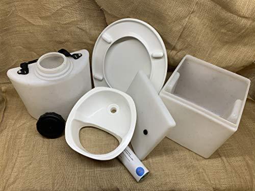 Build-Your-Own - Kit de inodoro para compostaje, solo componentes (sin marco) (separador de...