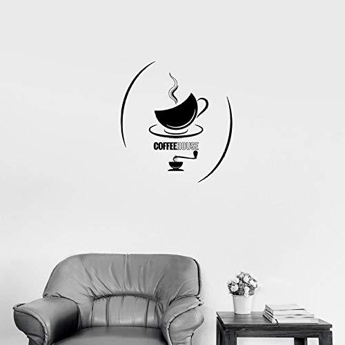 Muurstickers, café, tattoos, muurstickers, theekopje, warme dranken, keuken, café, binnendecoratie, ontspanning, vinyl, voor restaurant