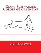 Giant Schnauzer Coloring Calendar
